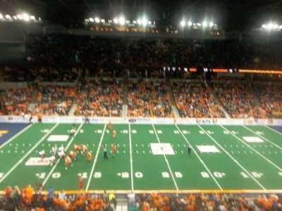 Spokane Arena, vak: 216, rij: M, stoel: 17