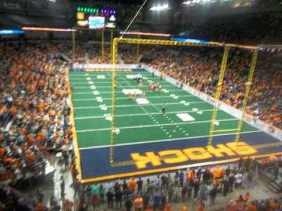 Spokane Arena, vak: 221, rij: M, stoel: 19