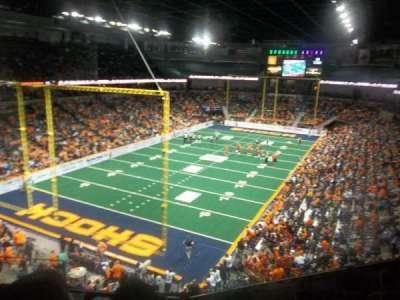 Spokane Arena, vak: 224, rij: M, stoel: 4