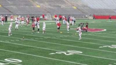 Camp Randall Stadium, vak: x, rij: 20, stoel: 14