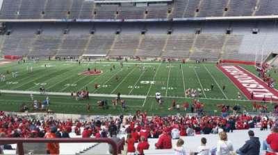 Camp Randall Stadium, vak: r, rij: 57, stoel: 36