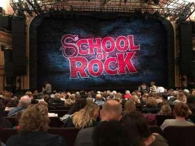 Winter Garden Theatre, vak: Orch C, rij: P, stoel: 114