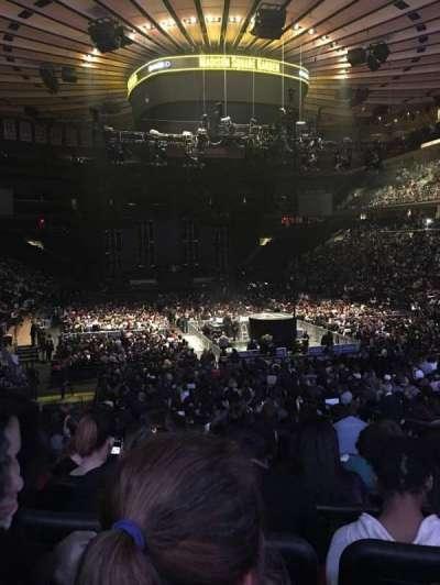 Madison Square Garden, vak: 101, rij: 15, stoel: 13