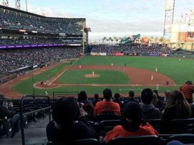AT&T Park, vak: 209, rij: H, stoel: 16