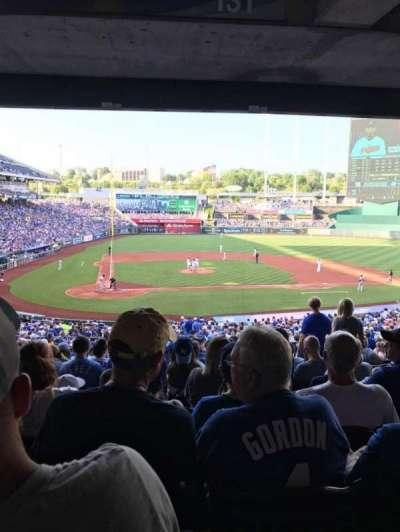 Kauffman Stadium, vak: 231, rij: PP, stoel: 7