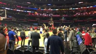 Staples Center, vak: 105, rij: C, stoel: 1