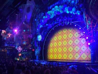 Palace Theatre (Broadway), vak: Orchestra Right, rij: M, stoel: 2