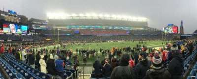 Gillette Stadium, vak: 112, rij: 8, stoel: 20