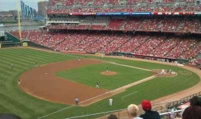 Great American Ball Park, vak: 414, rij: E, stoel: 24