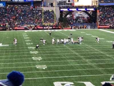 Gillette Stadium, vak: 122, rij: 33, stoel: 5