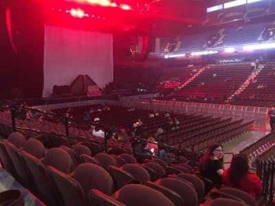 Mohegan Sun Arena, vak: 23, rij: L, stoel: 10