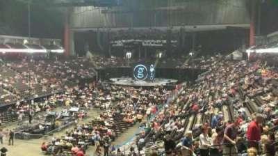 Jacksonville Veterans Memorial Arena, vak: 107, rij: AA, stoel: 11
