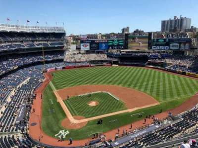 Yankee Stadium, vak: 419, rij: A, stoel: 4