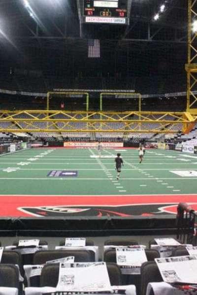 Jacksonville Veterans Memorial Arena, vak: 120, rij: D, stoel: 3