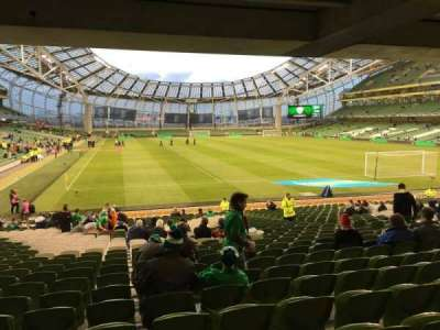 Aviva Stadium, vak: 117, rij: Ee, stoel: 3