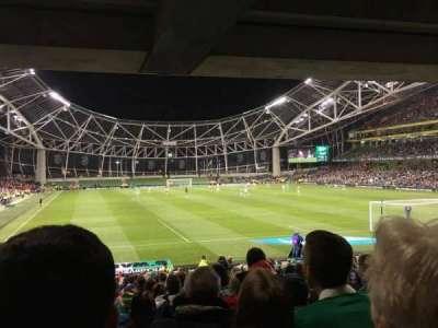 Aviva Stadium, vak: 116, rij: Ee, stoel: 23