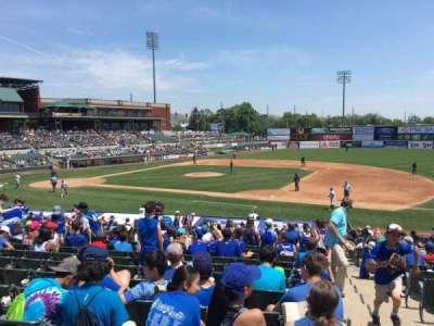 TD Bank Ballpark, vak: 215, rij: V, stoel: 1