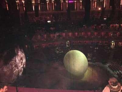 Royal Albert Hall, vak: Circle Q, rij: 4, stoel: 20