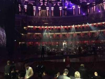 Royal Albert Hall, vak: Stalls H, rij: 7, stoel: 25