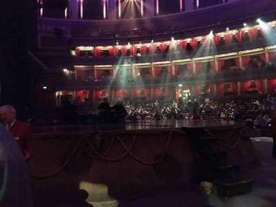 Royal Albert Hall, vak: Stalls H, rij: 1, stoel: 33