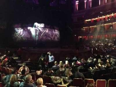 Royal Albert Hall, vak: Stalls J, rij: 7, stoel: 61