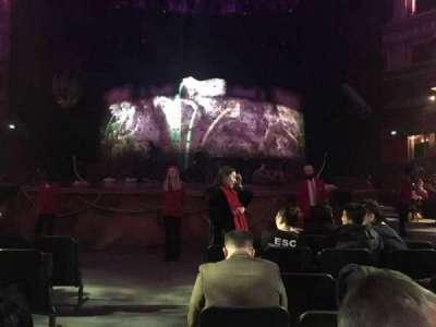 Royal Albert Hall, vak: D, rij: G, stoel: 26