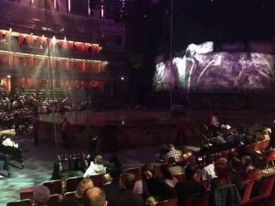 Royal Albert Hall, vak: Stalls L, rij: 8, stoel: 101