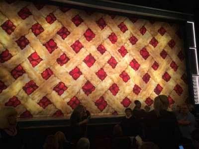 Forrest Theatre, vak: Orchestra C, rij: F, stoel: 112