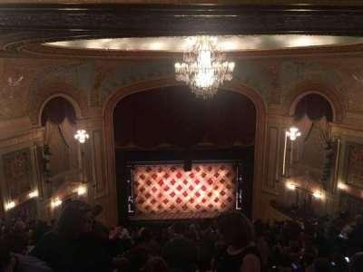 Forrest Theatre, vak: Rear Mezzanine C, rij: P, stoel: 10