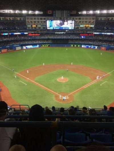 Rogers Centre, vak: 524BR, rij: 10, stoel: 5