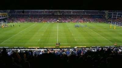 Newlands Rugby Stadium, vak: Railway Level 2, rij: S, stoel: 147