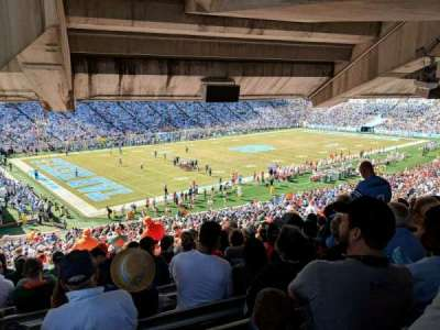 Kenan Memorial Stadium, vak: 101, rij: ccc, stoel: 18