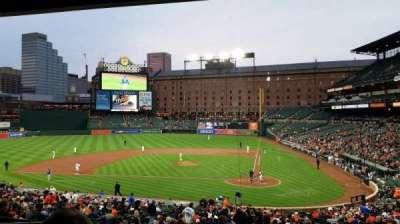 Oriole Park at Camden Yards, vak: 45, rij: 6, stoel: 10