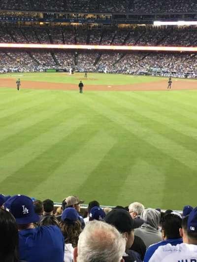 Dodger Stadium, vak: 314PL, rij: N, stoel: 10