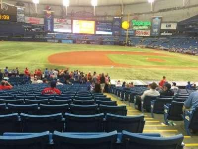 Tropicana Field, vak: 119, rij: BB, stoel: 9