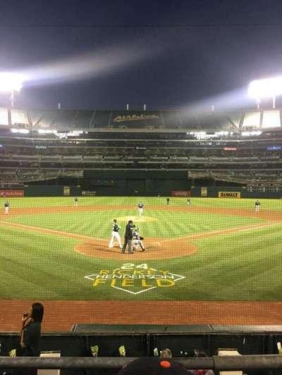 Oakland Alameda Coliseum, vak: 117, rij: 14, stoel: 7