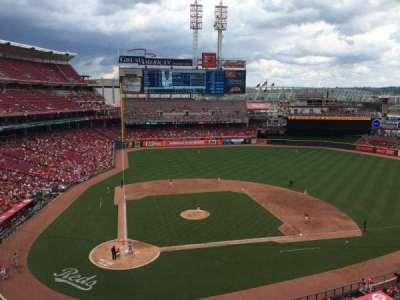 Great American Ball Park, vak: 427, rij: A, stoel: 1