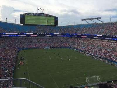 Bank of America Stadium, vak: 531, rij: 3, stoel: 13