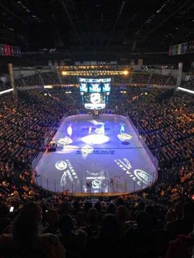 Bridgestone Arena, vak: 301, rij: H, stoel: 11