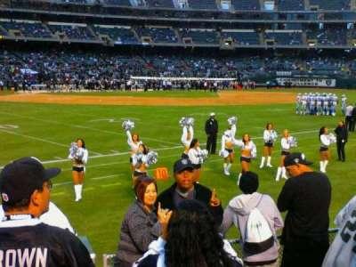 Oakland Alameda Coliseum, vak: 149, rij: 6, stoel: 5