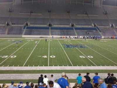 Liberty Bowl Memorial Stadium, vak: 105, rij: 20, stoel: 01