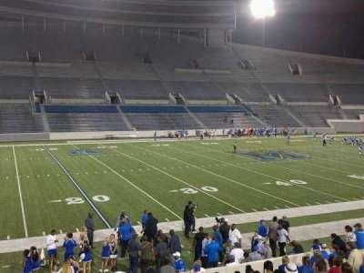Liberty Bowl Memorial Stadium, vak: 107, rij: 20, stoel: 01