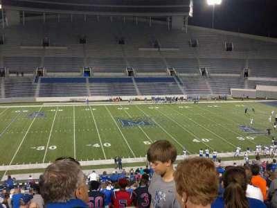 Liberty Bowl Memorial Stadium, vak: 105, rij: 20, stoel: 10