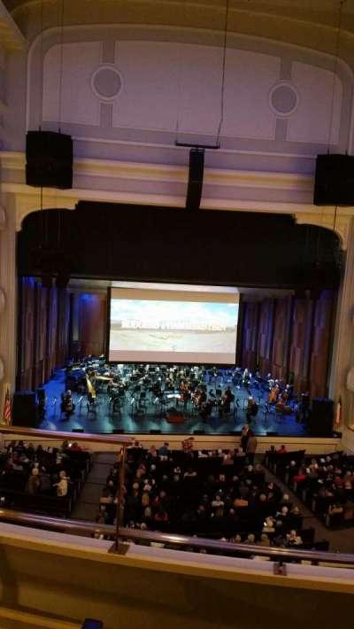 Bass Performance Hall, vak: Mezzanine Center, rij: C (3rd row), stoel: 2