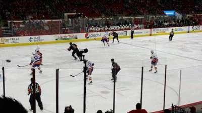 PNC Arena, vak: 123, rij: r, stoel: 8