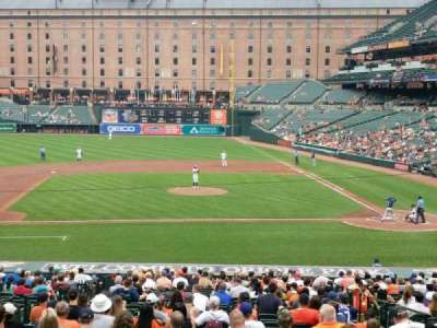Oriole Park at Camden Yards, vak: 49, rij: 1, stoel: 8