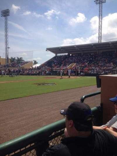 Joker Marchant Stadium, vak: 111, rij: Ee, stoel: 5