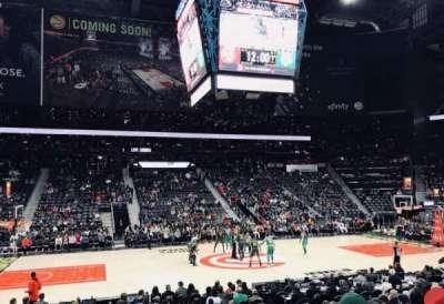 Philips Arena, vak: 116, rij: M, stoel: 7