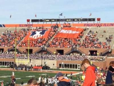 Memorial Stadium (Champaign), vak: 109, rij: 32, stoel: 20
