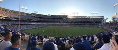 Dodger Stadium, vak: 308PL, rij: P, stoel: 1